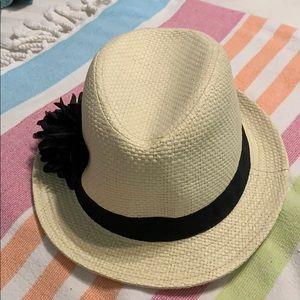 🖤🌻 STRAW hat -women's - black band flower- #A336